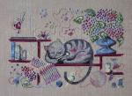 Filigram F-KC Knitting Cat With Silk Pack