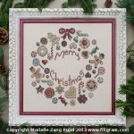 Filigram F-CCW Cookies Christmas Wreath With Silk Pack