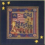 MHCB185 Mill Hill Buttons and Bead Kit God Bless America (2002)
