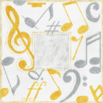 """MS045 Machelle Somerville Musical Monogram 18g, 9"""" x 9"""""""