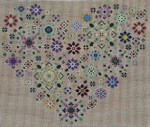 "Carolyn Manning Designs CM5016 - Heart 2 11 x 9 3/4"", 13 count"