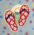 MH189104 Mill Hill Seasonal Ornament Kit Flip Flops (2009)