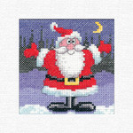HCK1241 Heritage Crafts Kit Santa  Christmas Cards by Karen Carter