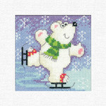 HCK1242 Heritage Crafts Kit Polar Bear  Christmas Cards by Karen Carter