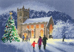 "HCK1144A Heritage Crafts Kit Christmas Church  Scenes by John Clayton 12"" x 8""; Aida; 14ct"