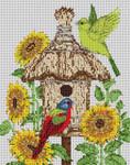 3220 Sunflower Birdhouse 12 Mesh 9x111⁄2 Treglown Designs