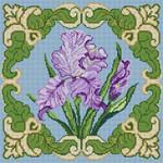 3254 Iris w/ Border 13 Mesh 13x13 Treglown Designs