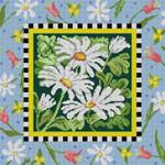 3262 Daisy W/ Floral Bttrfly 13 Mesh 83⁄4 x 83⁄4Treglown Designs
