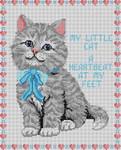 3226 My Little Cat 13 Mesh 10 x 121⁄2 Treglown Designs