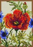 3319 Summer Poppy 13 Mesh 33⁄4 x 51⁄4 Treglown Designs