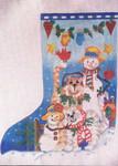 4214 Snow People Stocking 12 Mesh 131⁄2x18 Treglown Designs