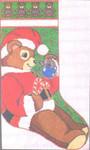 5009 Teddy Santa Stocking 13 Mesh 12x21 Treglown Designs