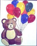 8792 Teddy Bear w/ Balloon 13 Mesh 8 x 10 Treglown Designs