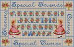 B-202 Special Friends 13 Mesh 71⁄2 x 12 Treglown Designs