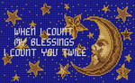 B-203 Count your Blessing 13 Mesh 61⁄4 x 10 Treglown Designs