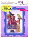 Brooke's Books Publishing  Stitch-a-Little Polly The Pirate Witch Chart Pack