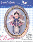 Brooke's Books Publishing Spirit Of Peace Angel CCS Ornament +chartpack
