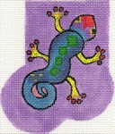 ab05 A. Bradley purple gecko mini-sock 3 x 4  18 Mesh