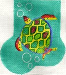 ab09 A. Bradley sea turtle mini-sock 3 x 4 18 Mesh