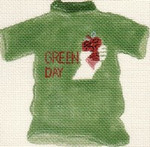 ab60 A. Bradley green day t-shirt 4 x 5 18 Mesh