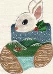 ab109 A. Bradley woody bunny 3 x 4  18 Mesh