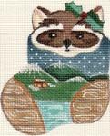 ab110 A. Bradley woody raccoon 3 x 4 18  Mesh