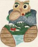 ab114 A. Bradley woody owl 3 x 4  18 Mesh