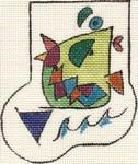 ab119 A. Bradley picasso fish minisock 3 x 4  18 Mesh