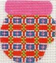 ab170 A. Bradley pink/orange munchkin mitten 2 x 2.25
