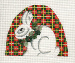ab146 A. Bradley rabbit on plaid 4 x 4  18 Mesh