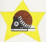 ab157b A. Bradley basketball show super star 4 x 4 18 Mesh