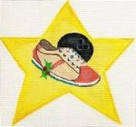 ab158 A. Bradley bowling shoe super star 4 x 4 18 Mesh