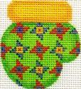 ab169 A. Bradley yellow/green - munchkin mitten 2 x 2.25 18 Mesh