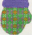 ab172 A. Bradley purple/green munchkin mitten 2 x 2.25 18 Mesh