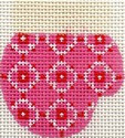 ab174 A. Bradley white/pink munchkin mitten 2 x 2.25 18 Mesh