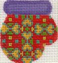 ab175 A. Bradley purple/red munchkin mitten 2 x 2.25 18 Mesh