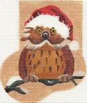 ab176 A. Bradley cozy owl Mini-Sock 3 x 4 18 Mesh
