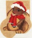 ab177 A. Bradley cozy bunny Mini-Sock 3 x 4 18 Mesh