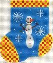 ab178 A. Bradley floaty snowman munchkin sock2 x 3  18 Mesh
