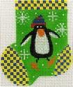 ab179 A. Bradley floaty penguin munchkin sock 2 x 3 18 Mesh