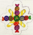 A. Bradley ab180 candy snowflake 1 3 x 3  18 Mesh