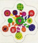 ab181 A. Bradley candy snowflake 2 3 x 3  18 Mesh