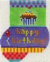 ab182 A. Bradley happy birthday munchkin sock 2 x 3  18 Mesh