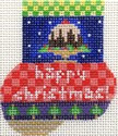 ab183 A. Bradley happy Christmas munchkin sock 2 x 3 18 Mesh