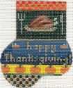 ab183a A. Bradley happy thanksgiving munchin sock 2 x 3  18 Mesh
