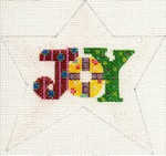 "ab193 A. Bradley ""joy"" star ornament 4 x 3 18 Mesh"