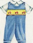 ab199b A. Bradley baby boy smocked suit 4 x 5 18  Mesh