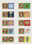 ab213 A. Bradley 25 advent ornaments 2 x 1  18  Mesh