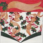 ab214 A. Bradley candy cane stocking cuff 9 x 9 18  Mesh