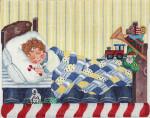 ab216b A. Bradley sleeping boy stocking cuff11 x 13 18 Mesh